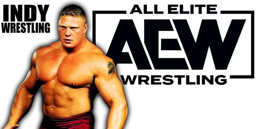 Brock Lesnar AEW All Elite Wrestling Article Pic 1