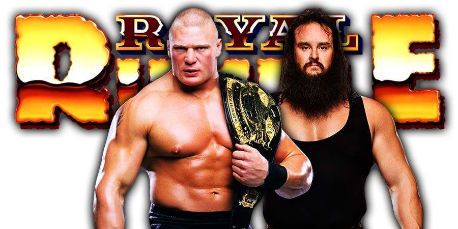 Brock Lesnar vs. Braun Strowman At Royal Rumble 2019 Cancelled