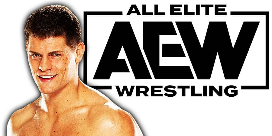 Cody Rhodes AEW All Elite Wrestling Promotion