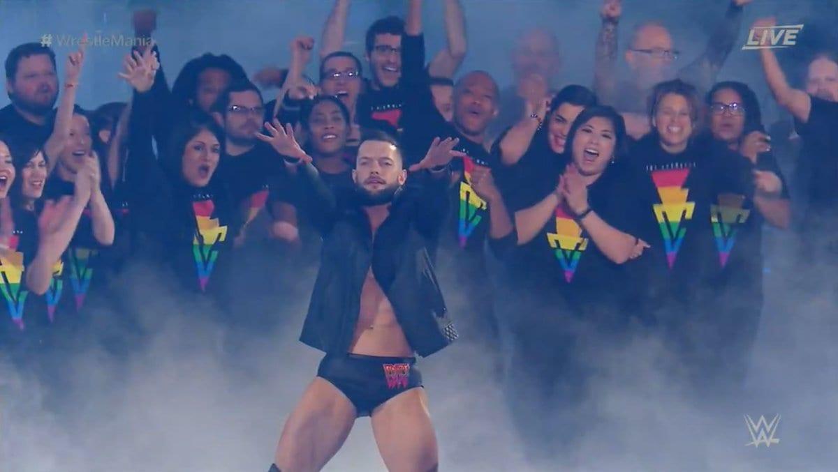 Finn Balor WrestleMania 34 LGBTQ Entrance