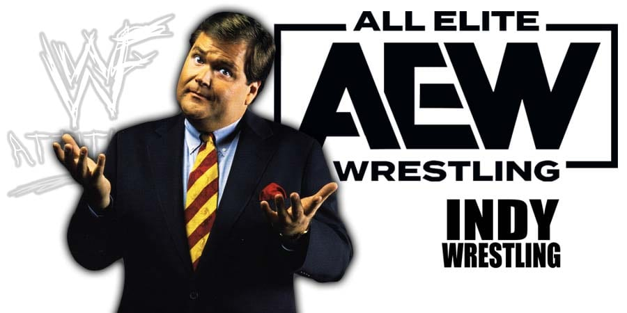 Jim Ross AEW All Elite Wrestling Article Pic 1