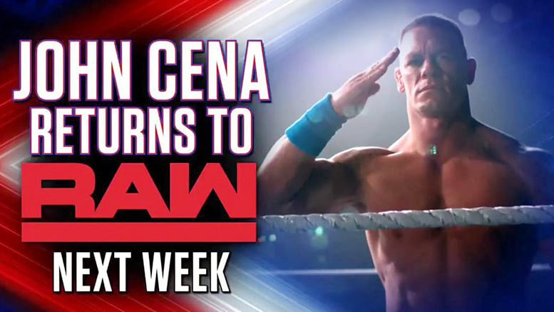 John Cena Returns To WWE RAW 2019