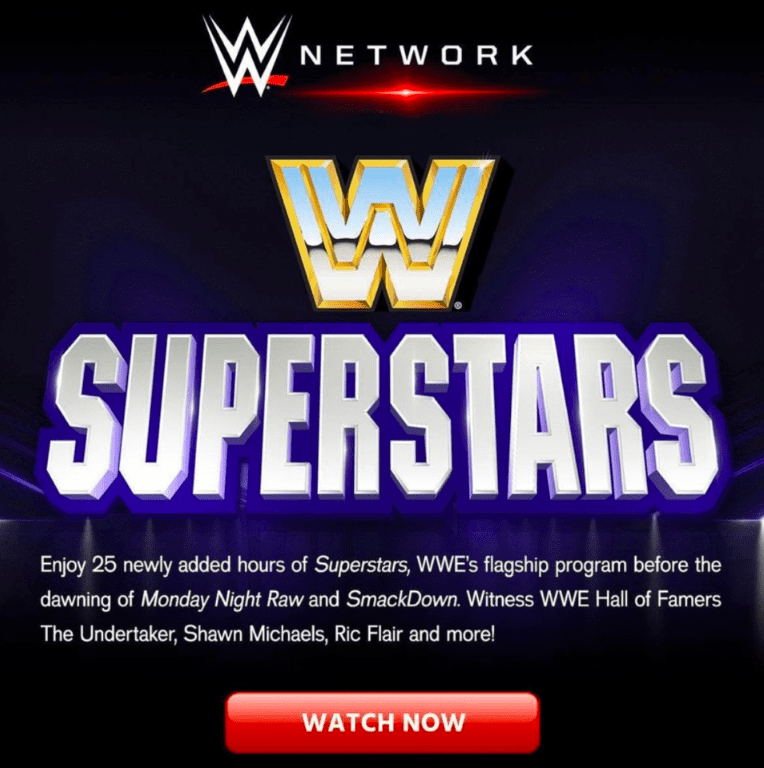 The Undertaker listed as a WWE Hall of Famer in WWE Network advertisement for WWF Superstars