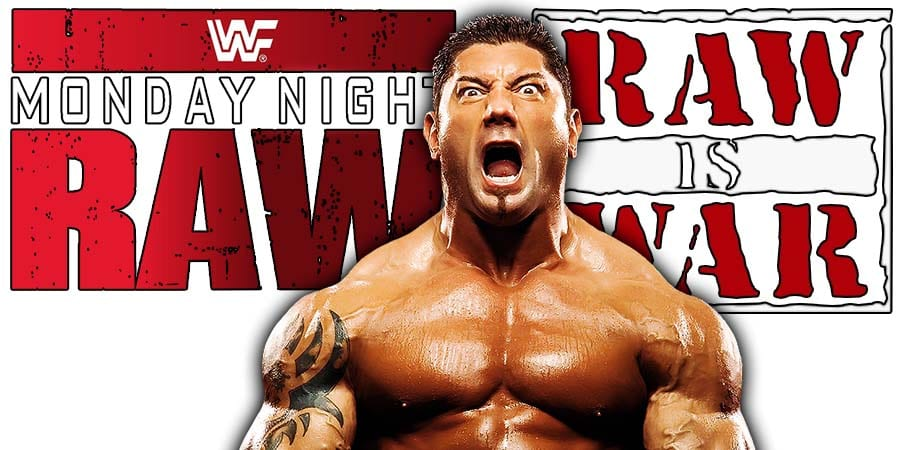 Batista WWE RAW
