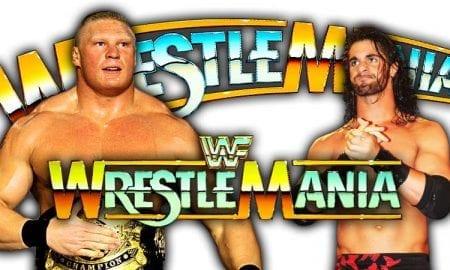 Brock Lesnar Seth Rollins WrestleMania 35 Universal Championship Match