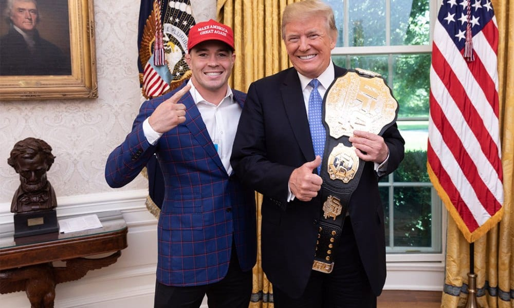 Colby Covington with Donald Trump