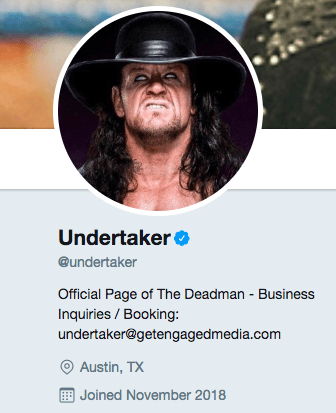 The Undertaker Official Twitter