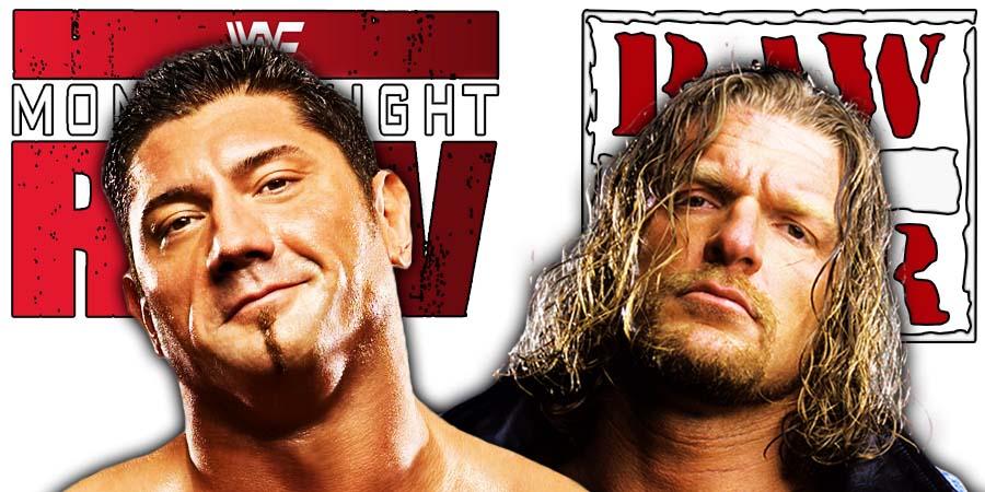 Batista Triple H Set Up WrestleMania 35 Match On RAW