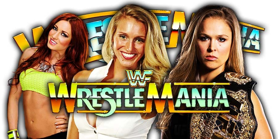 Becky Lynch Charlotte Flair Ronda Rousey WrestleMania 35 Main Event