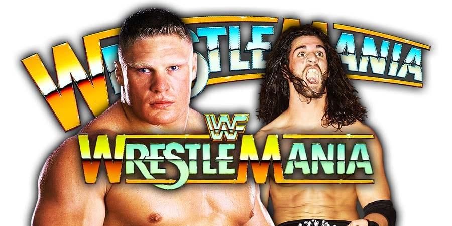 Brock Lesnar vs. Seth Rollins - Universal Championship Match (WrestleMania 35)