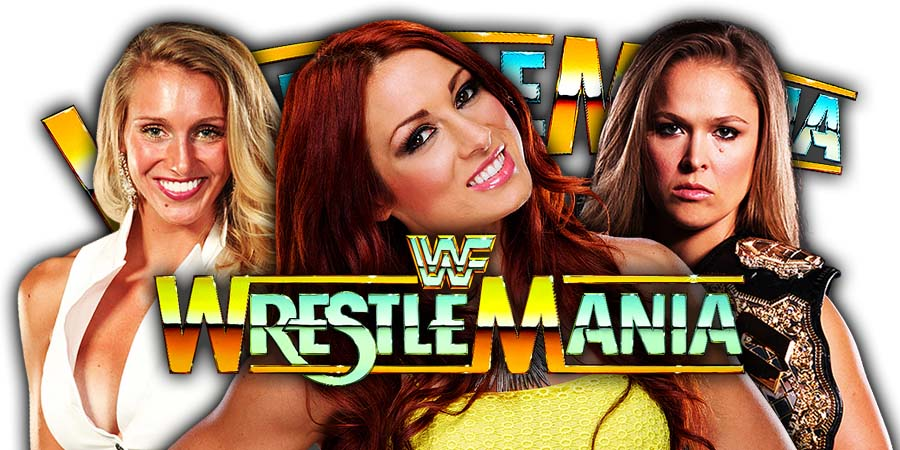 Charlotte Flair Becky Lynch Ronda Rousey WrestleMania 35 Main Event