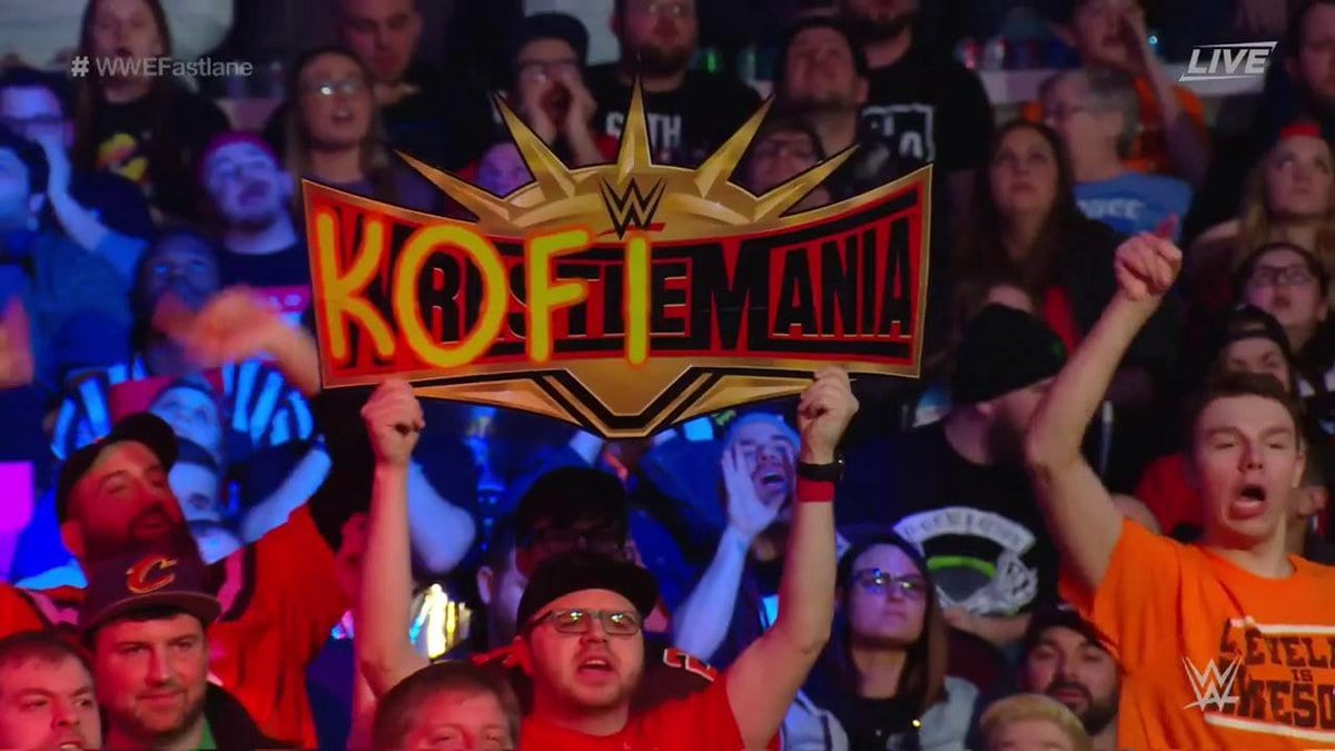 KofiMania Sign At WWE FastLane 2019