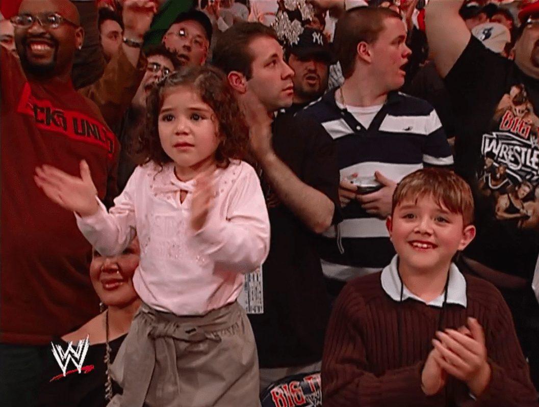 Rey Mysterio's childern at WWE WrestleMania 22