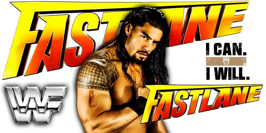 Roman Reigns FastLane 2019 Match