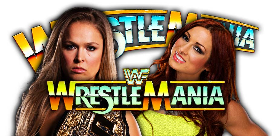 Ronda Rousey Becky Lynch WrestleMania 35
