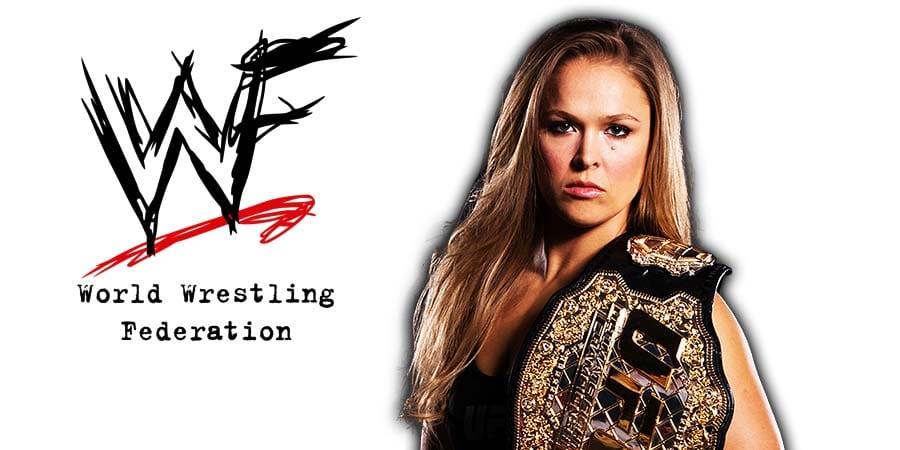 Ronda Rousey UFC Champion WWF WWE