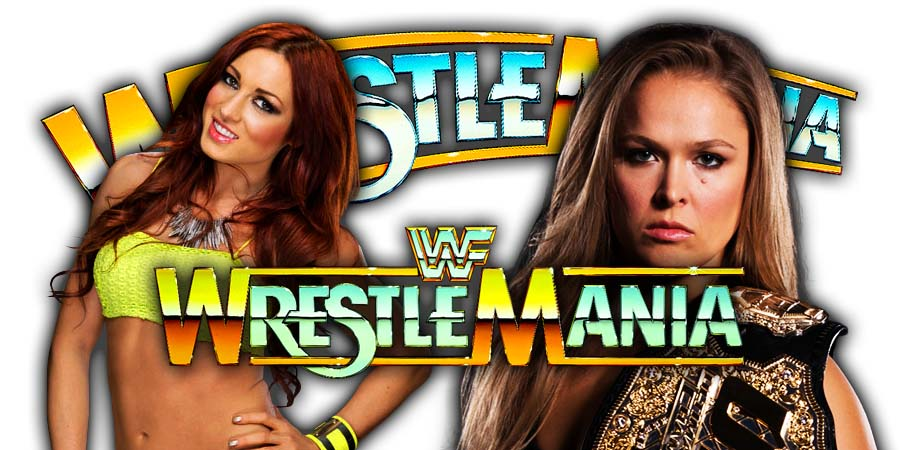 Ronda Rousey vs. Becky Lynch - WrestleMania 36