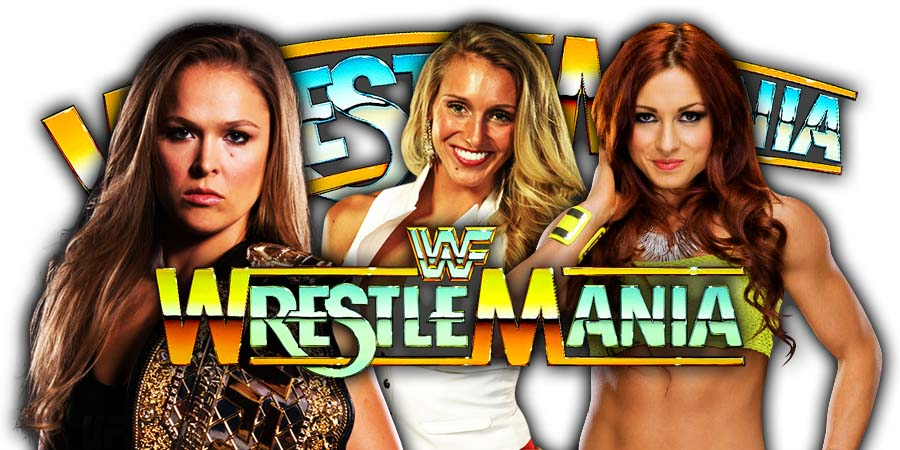Ronda Rousey vs. Becky Lynch vs. Charlotte Flair - WrestleMania 35