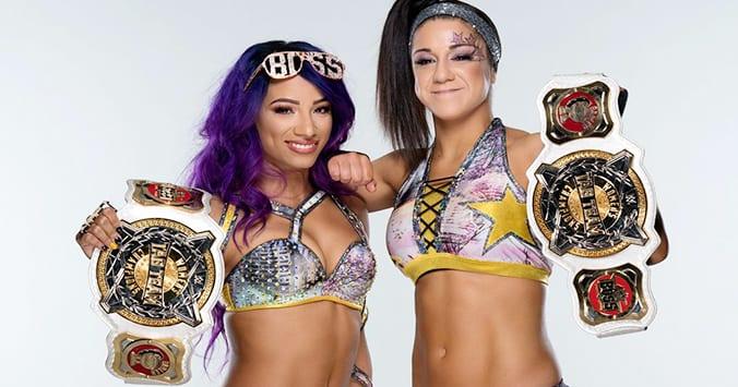 Sasha Banks Bayley Boss N Hug Connection WWE Women's Tag Team Champions