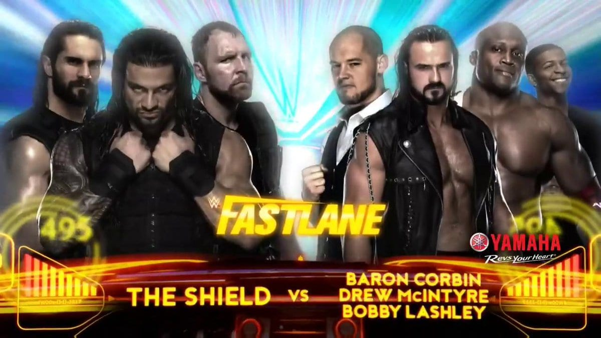 The Shield vs. Drew McIntyre, Bobby Lashley & Baron Corbin - FastLane 2019
