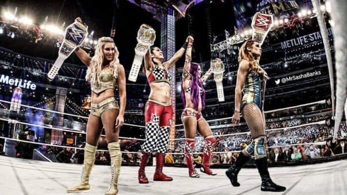 WWE 4 Horsewomen All Champions WrestleMania 35