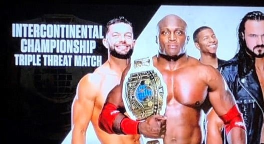 WWE Spoils Bobby Lashley defeating Finn Balor for the Intercontinental Championship