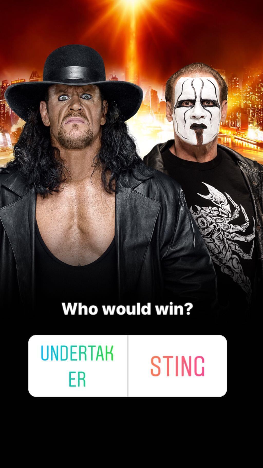 WWE Teases The Undertaker vs. Sting On Instagram Stories