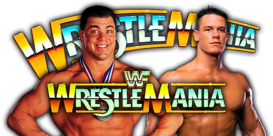 Kurt Angle John Cena WWE WrestleMania 35