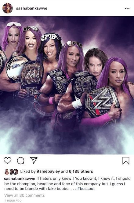 Sasha Banks Says She'll Need To Have Fake Boobs To Get A Push In WWE
