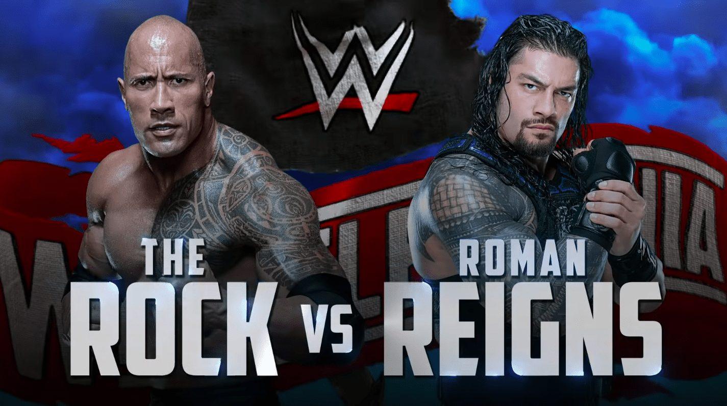 The Rock vs. Roman Reigns - WrestleMania 36 Graphic