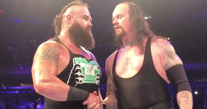 The Undertaker and Braun Strowman shake hands at WWE Live Event Madison Square Garden July 9, 2018