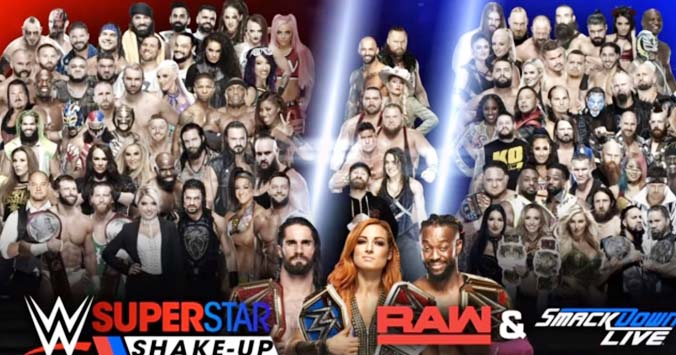 WWE Superstar Shake-Up 2019 Poster