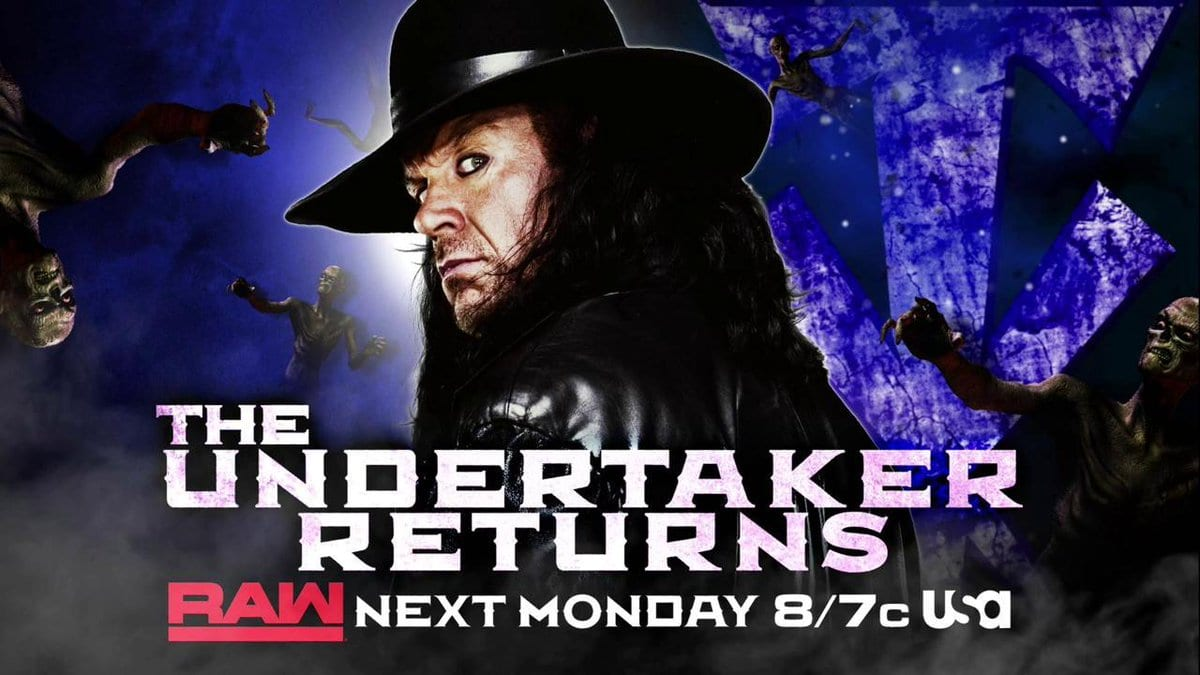 The Undertaker Returns On RAW To Address Goldberg Ahead Of WWE Super ShowDown 2019