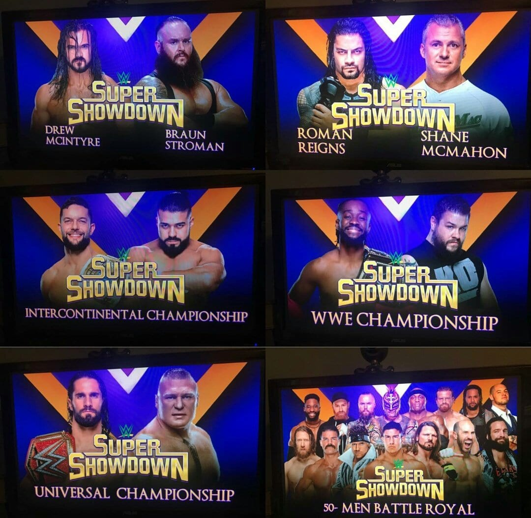 WWE Super ShowDown 2019 Matches