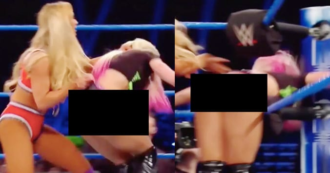 Alexa Bliss' Buns Exposed Twice On This Week's SmackDown (Video)