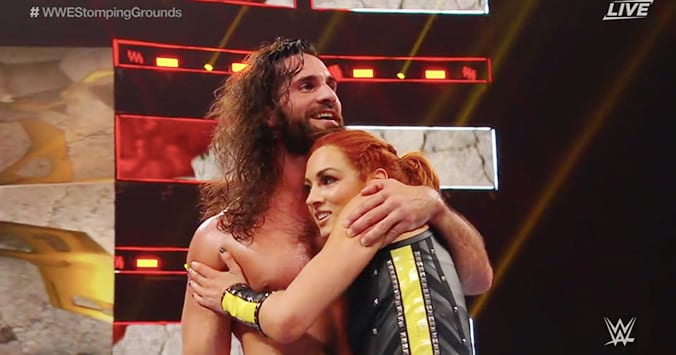 Becky Lynch Saves Seth Rollins At WWE Stomping Grounds 2019