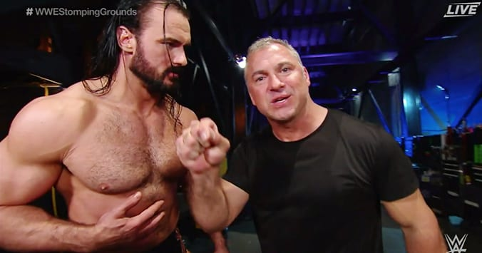 Drew McIntyre Shane McMahon WWE Stomping Grounds 2019