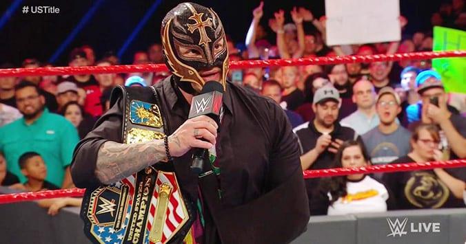 Rey Mysterio Relinquishes United States Championship To Samoa Joe On RAW