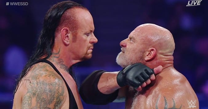 Undertaker & Goldberg Involved In A Verbal Argument After WWE Super ShowDown
