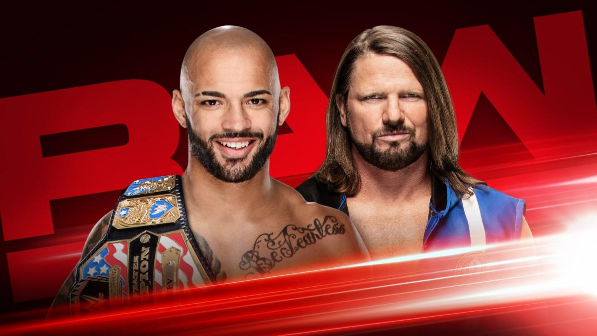 United States Champion Ricochet vs. AJ Styles