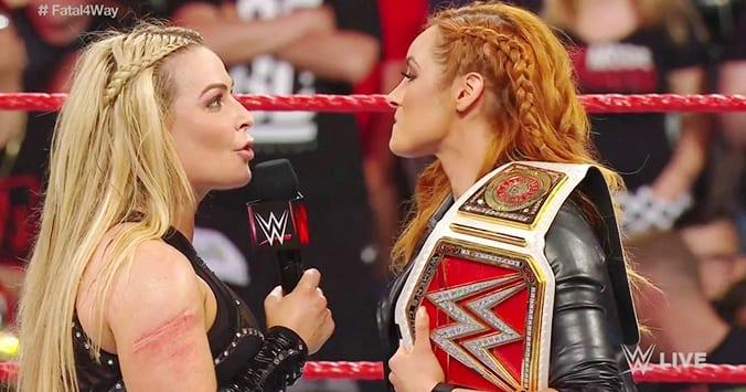 Becky Lynch vs. Natalya for the RAW Women's Championship set for SummerSlam 2019