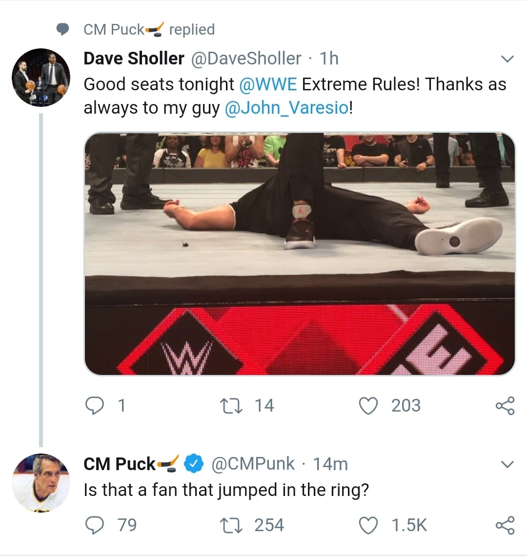 CM Punk Takes A Shot At Shane McMahon At Extreme Rules 2019