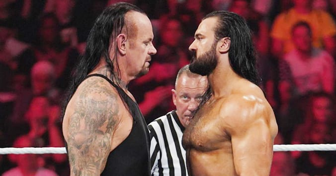 Drew McIntyre The Undertaker Face To Face WWE Extreme Rules 2019