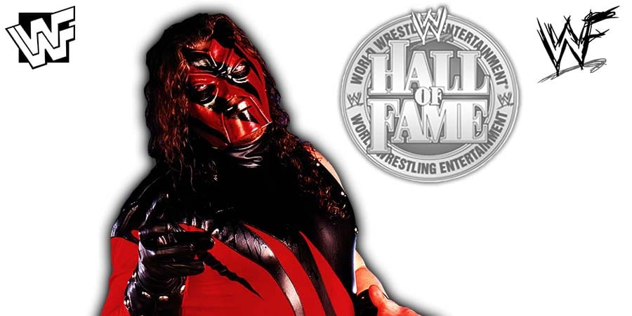 Kane WWE Hall Of Fame