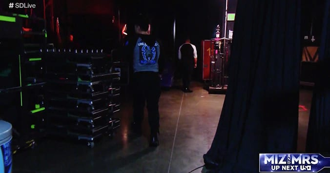 Roman Reigns Buddy Murphy backstage segment WWE SmackDown 2019