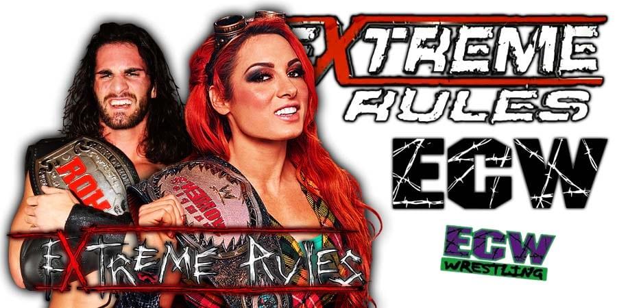 Seth Rollins Becky Lynch WWE Extreme Rules 2019