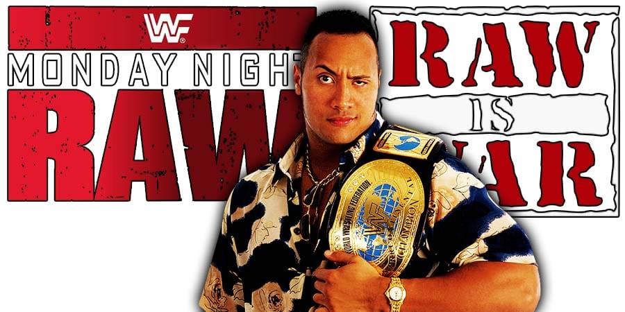 The Rock Dwayne Johnson WWF WWE RAW