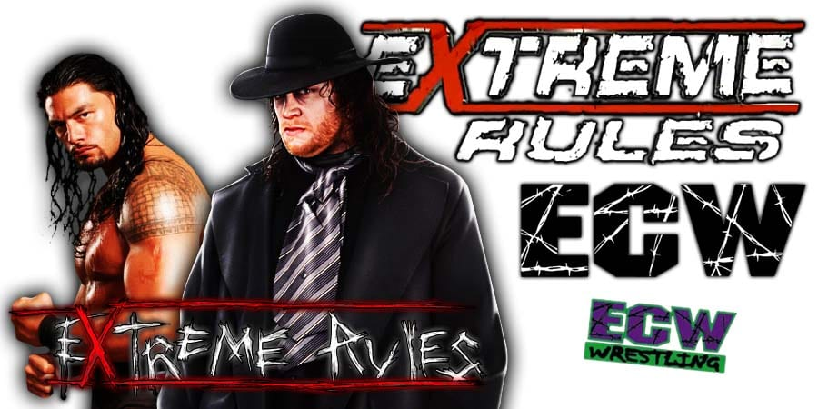 The Undertaker & Roman Reigns win at WWE Extreme Rules 2019