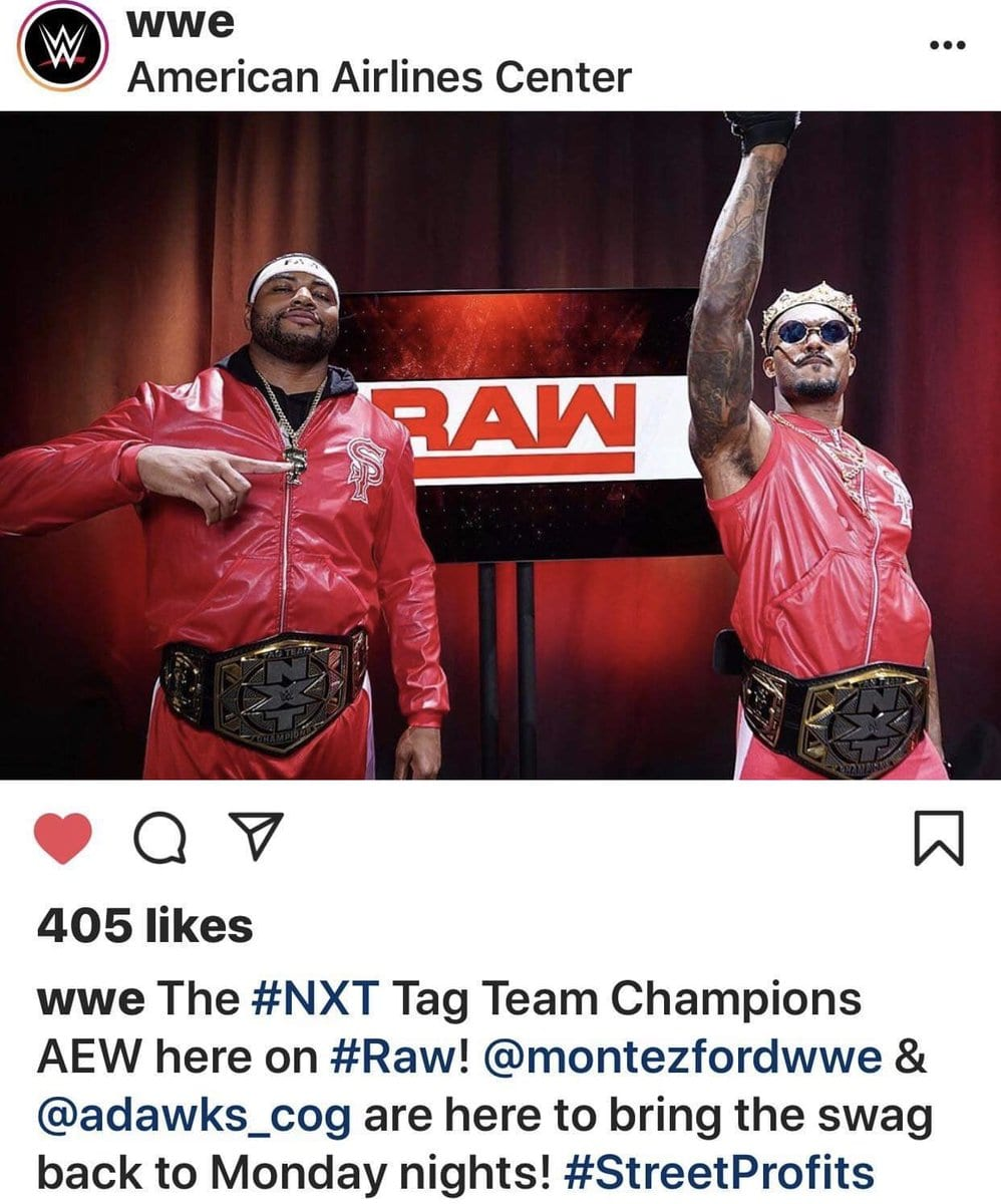 WWE Accidentally Mentions AEW On Instagram