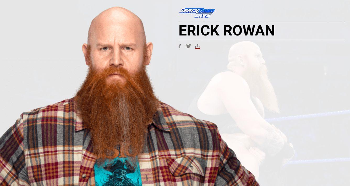 Erick Rowan's name changed again in WWE August 2019